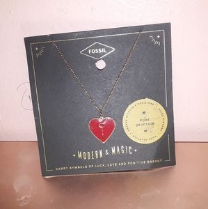 FOSSIL Pure Devotion necklace NWT